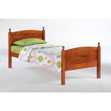 Cherry Wood Twin Beds - Twin Licorice Bed in cherry finish