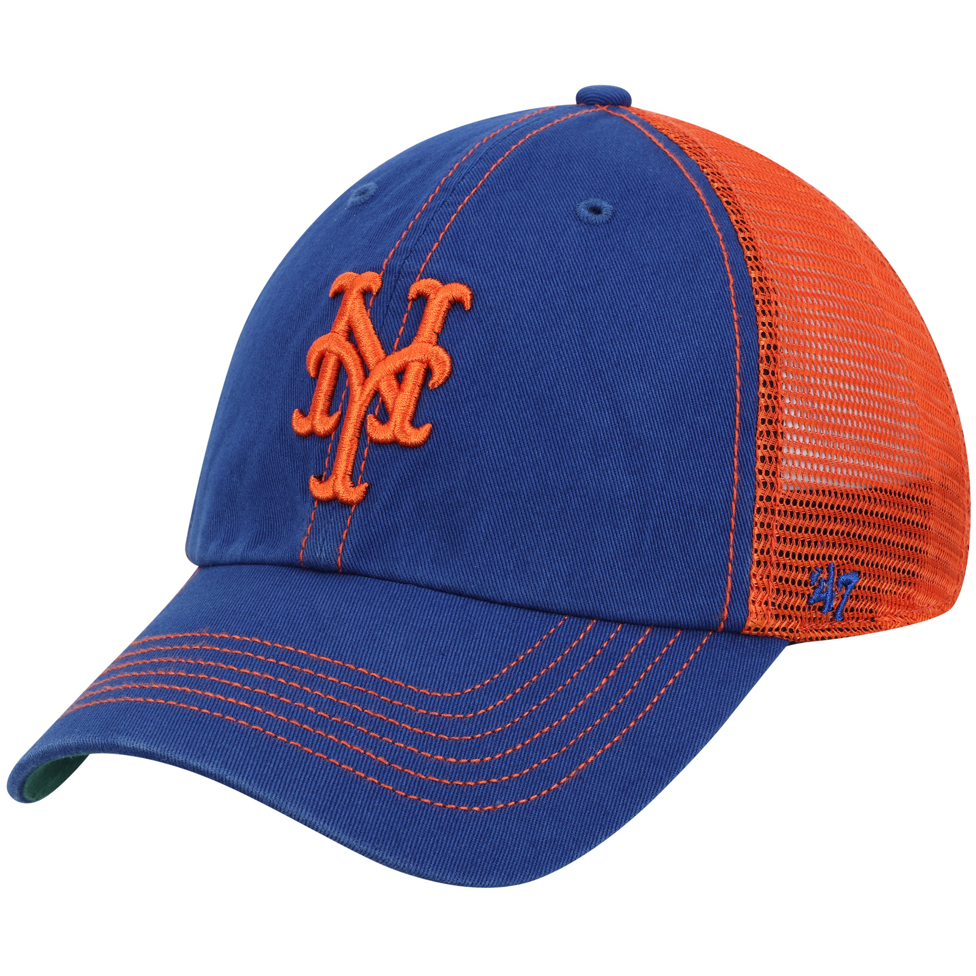 New York Mets '47 Trawler Clean Up Trucker Hat - Royal - OSFA