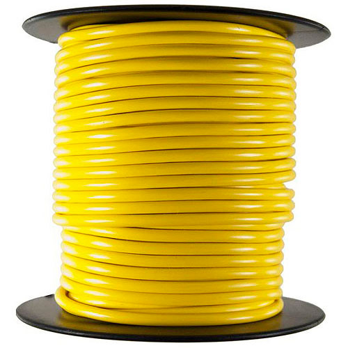 JT&T Products 107C 10 AWG Yellow Primary Wire, 100' Spool