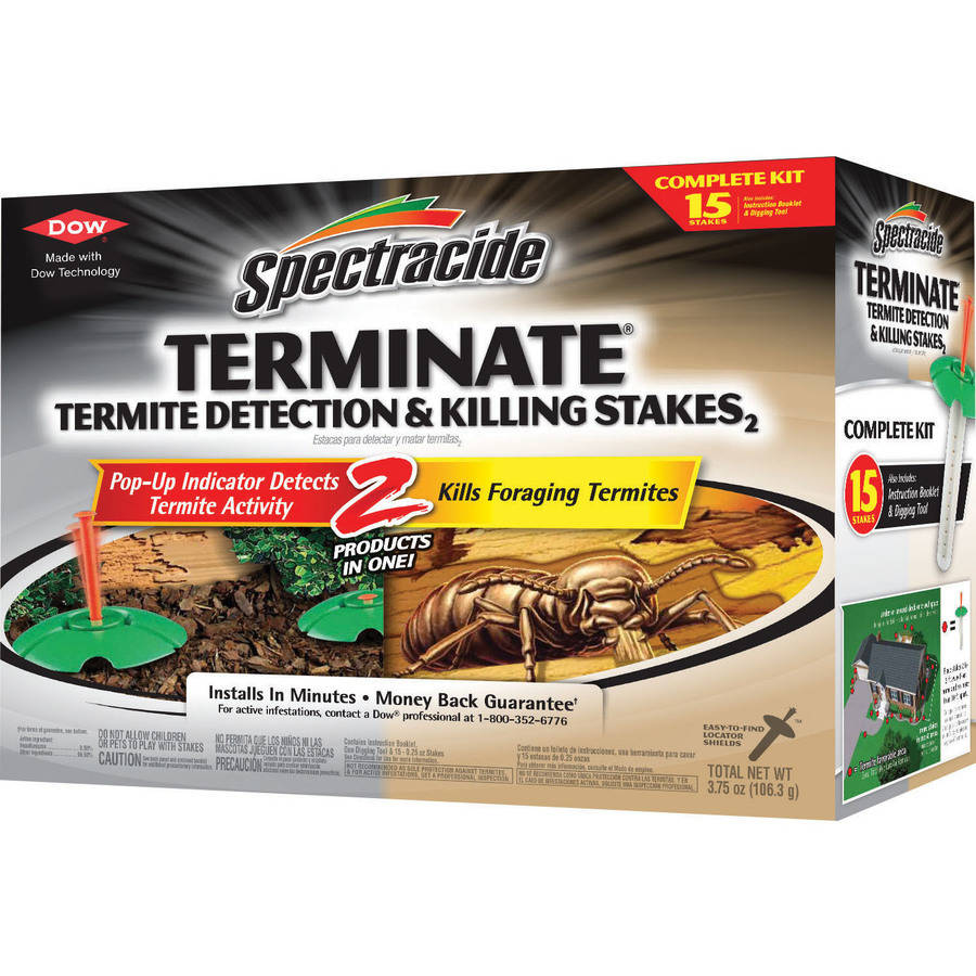 Spectracide Terminate Termite Killing and Detection Stakes, 15 ct
