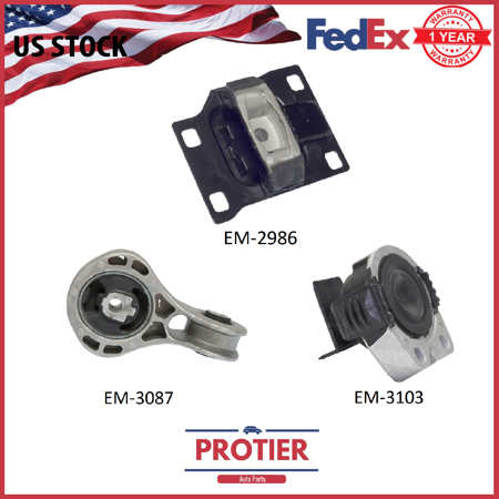 Engine Motor & Trans Mount Set for 2008-2011 Ford Focus 2.0L 2986 5312 5322 3PCS ()