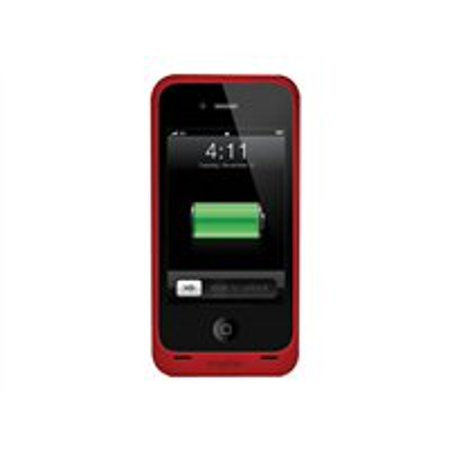 separation shoes 8df19 5161a Mophie Juice Pack Air - External battery pack Li-pol 1500 mAh - red - for  Apple iPhone 4, 4S