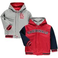 St. Louis Cardinals JH Design Toddler Reversible Hooded Jacket - Red