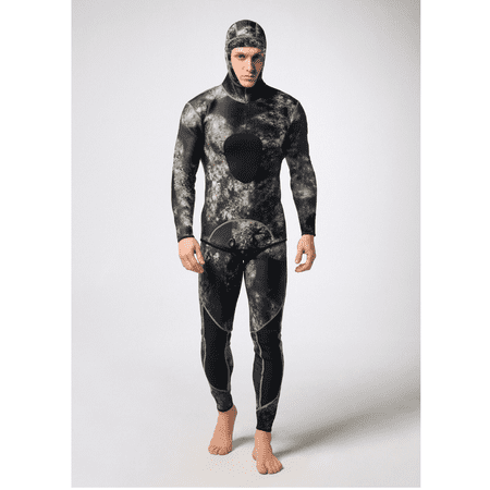 Man Premium Neoprene 3mm with Super-stretch Armpit for Diving Snorkeling Swimming Fishing Mimetic Spearfishing Camouflage Full Wetsuit Size M