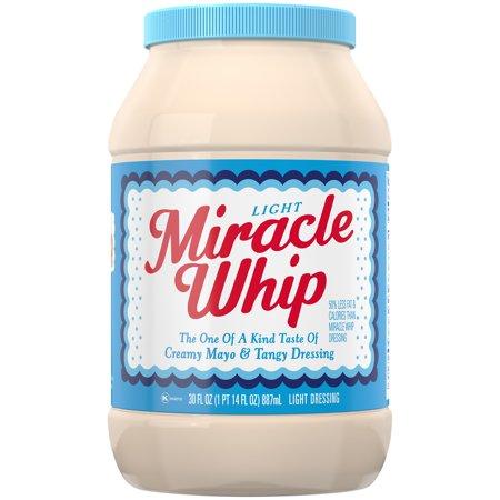 Miracle Whip Light Dressing 30 fl. oz. Jar - Walmart.com  Miracle Whip Li...