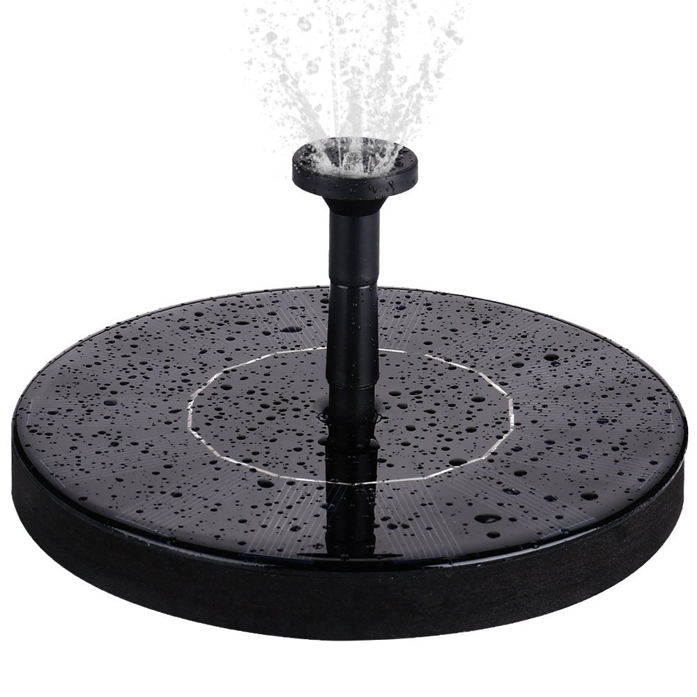 Qedertek Solar Powered Birdbath Fountain Pump, Free Standing 1.4W Solar Panel Water... by