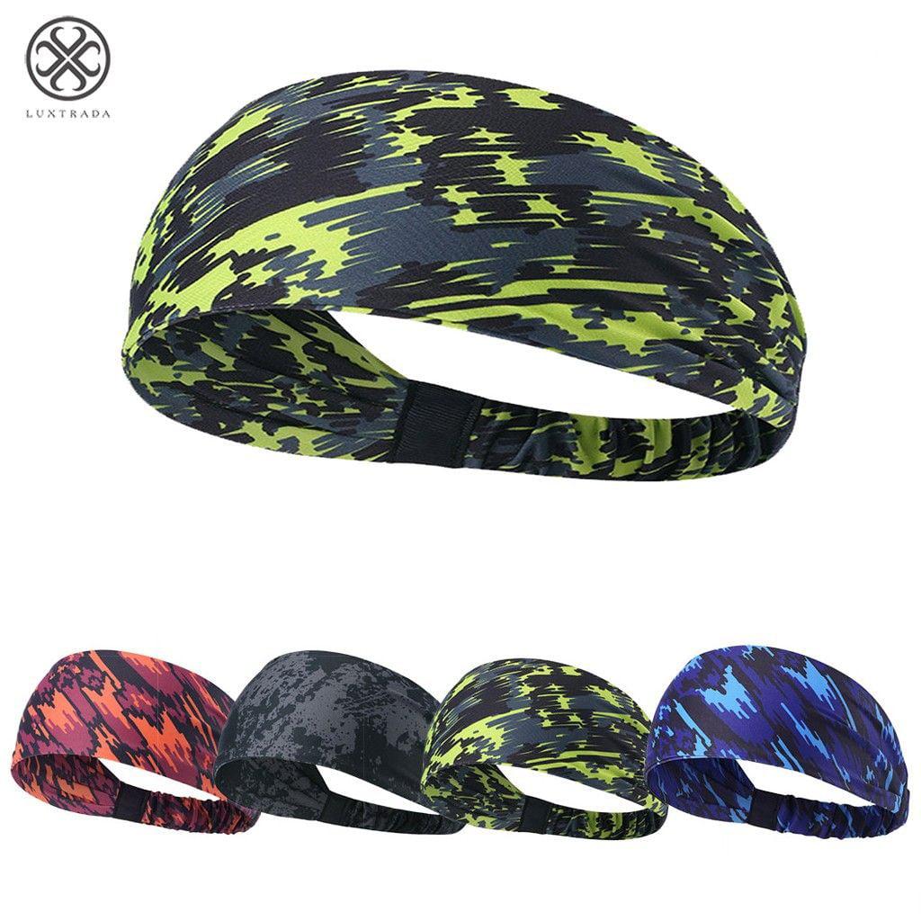 Jogging Sport Headbands for Women Non Slip Ipow Set of 2 Men Headband Basketball Breathable Sweatband for Running Yoga Fitness Hair Band Volleyball