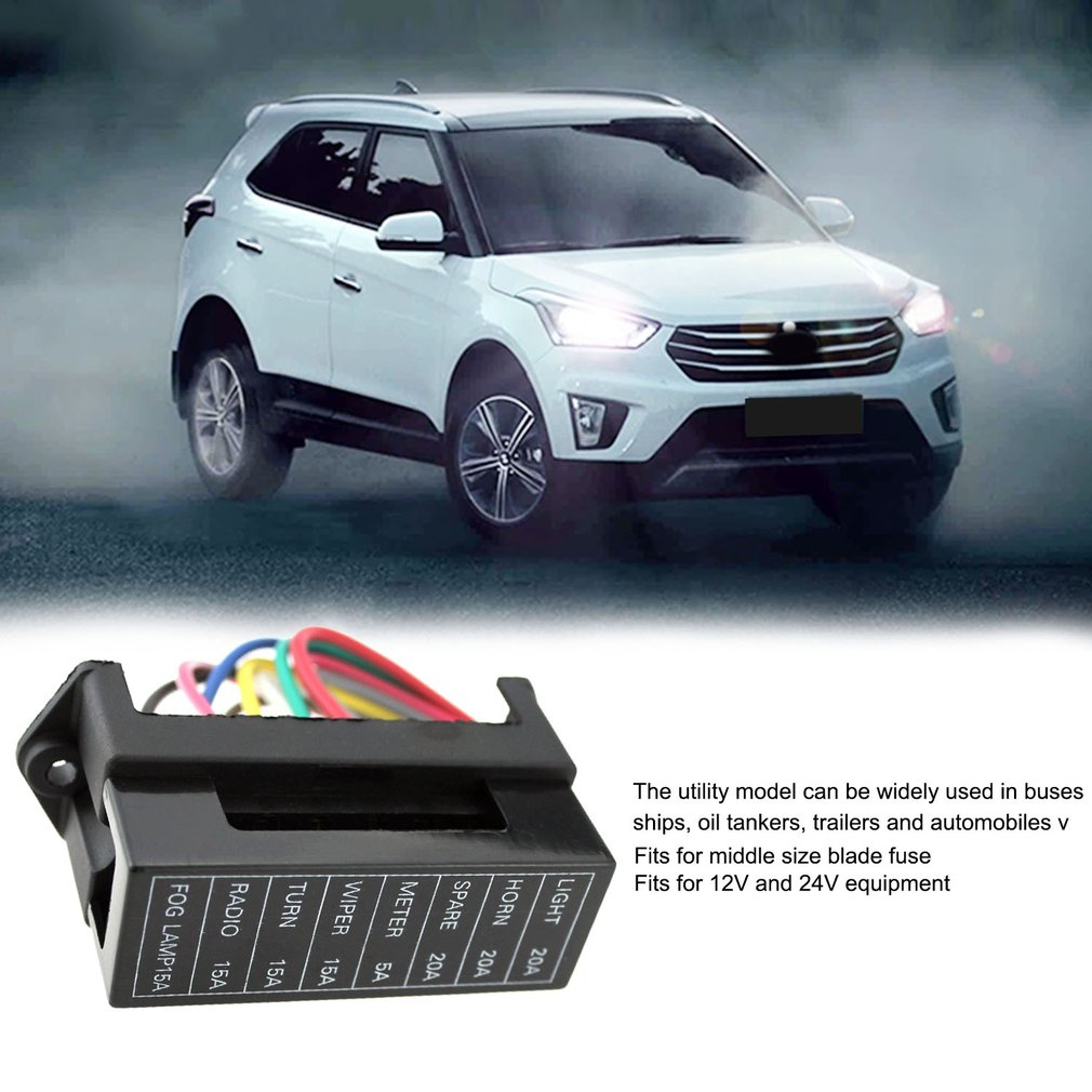 Eight Way Circuit Car Boat Bus Trailers Atc Ato Blade Fuse Box Block Automobile 2 Input Wire Electric Devices Holder