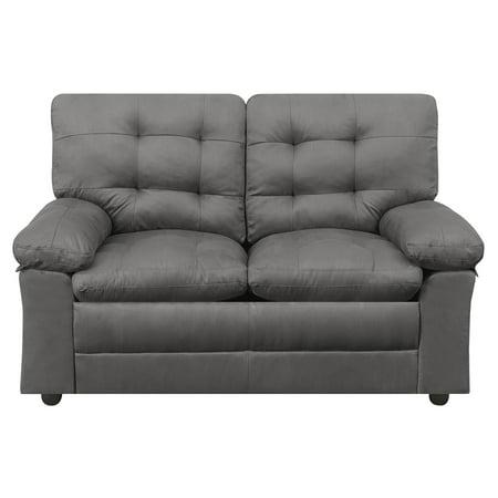 Oak Upholstered Loveseat - Mainstays Buchannan Upholstered Loveseat, Multiple Colors