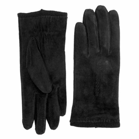 Ladies Leather Driving Gloves - Fownes Womens Black Suede Leather Driving Gloves Acrylic Lined