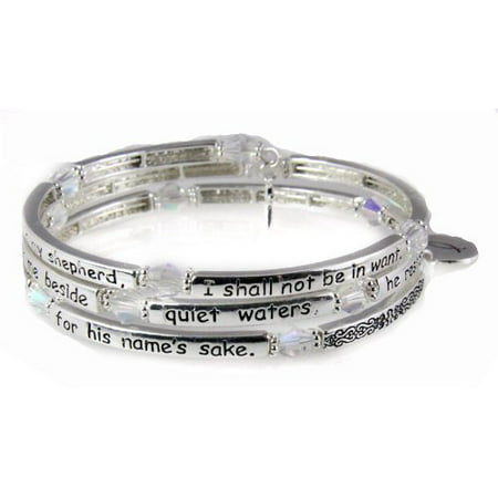 Psalm 23 Coil Bracelet Scripture The Lord is my Shepherd Religious Cr...