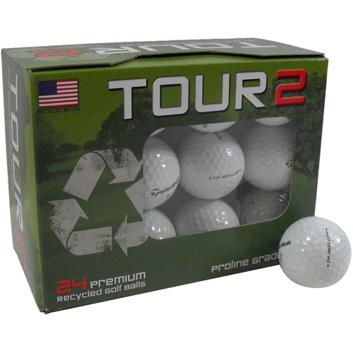 Taylormade TP Red Golf Ball Mix, White, 24-Pack