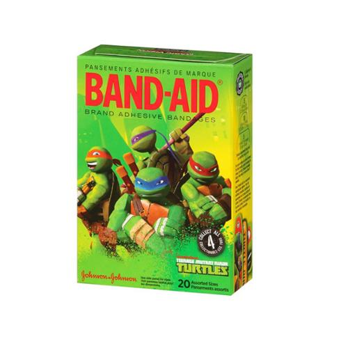 BAND-AID Adhesive Bandages, Teenage Mutant Ninja Turtles, Assorted Sizes 20 ea (Pack of 3)