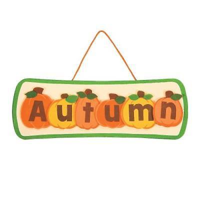 IN-13747373 Autumn Pumpkin Sign Craft Kit (Pumpkin Crafts)