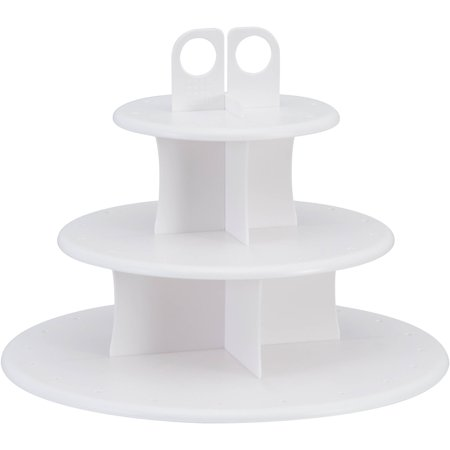 Cake Pop Plastic Cupcake Stand, 3-Tier, White, - Cake Pop Plastic Covers