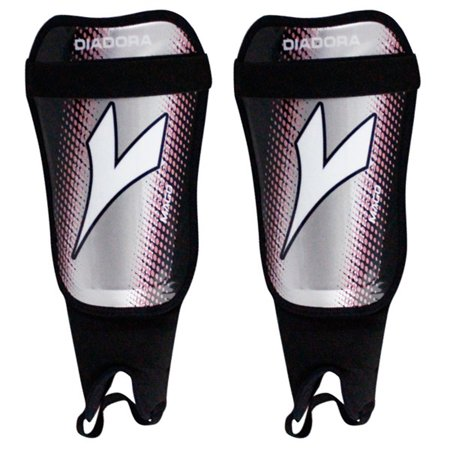 Diadora Unisex Mago Soft Shell Shinguards Black Grey Pink L Diadora Black Shin Guard