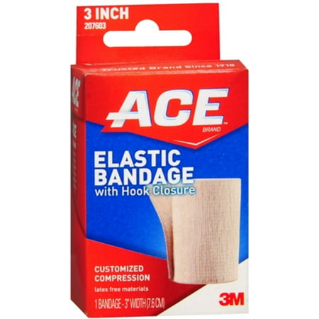 - ACE Elastic Bandage (velcro closure) 3 Inches 1 Each (Pack of 2)