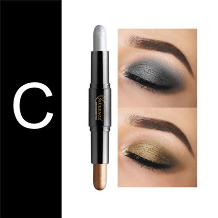 Powder Eyeshadow for Makeup, Beauty Highlighter Eyeshadow Pencil, Cosmetic Glitter Eye Shadow Eyeliner Pen for