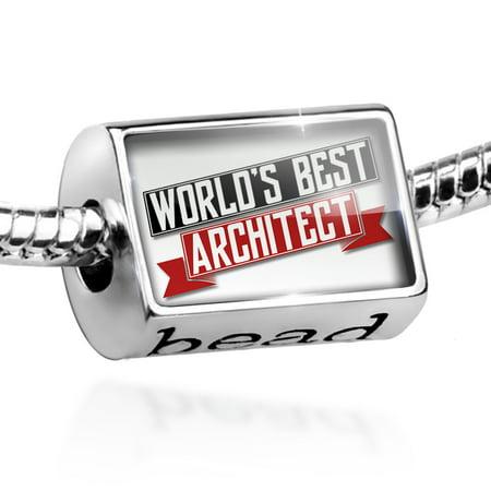 Bead Worlds Best Architect Charm Fits All European Bracelets - Junior Architect