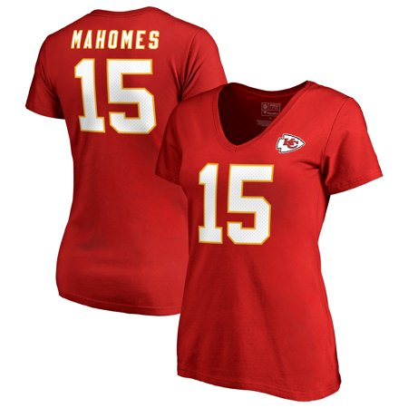 Patrick Mahomes Kansas City Chiefs NFL Pro Line by Fanatics Branded Women's Authentic Stack Name & Number T-Shirt -