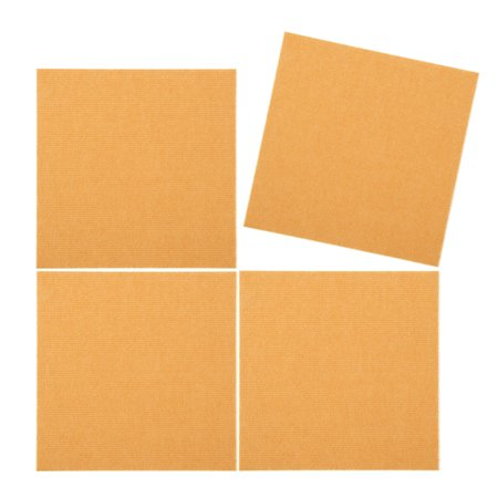 Triluc Place and Stick Tile Mats, Orange, 12x12 (4