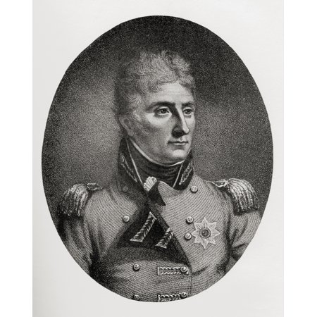 Lieutenant-General Sir John Moore 1761 To 1809 British Soldier And General From The Book How England Saved Europe The Story Of The Great War 1793-1815 Published 1909 Canvas Art - Ken Welsh  Design