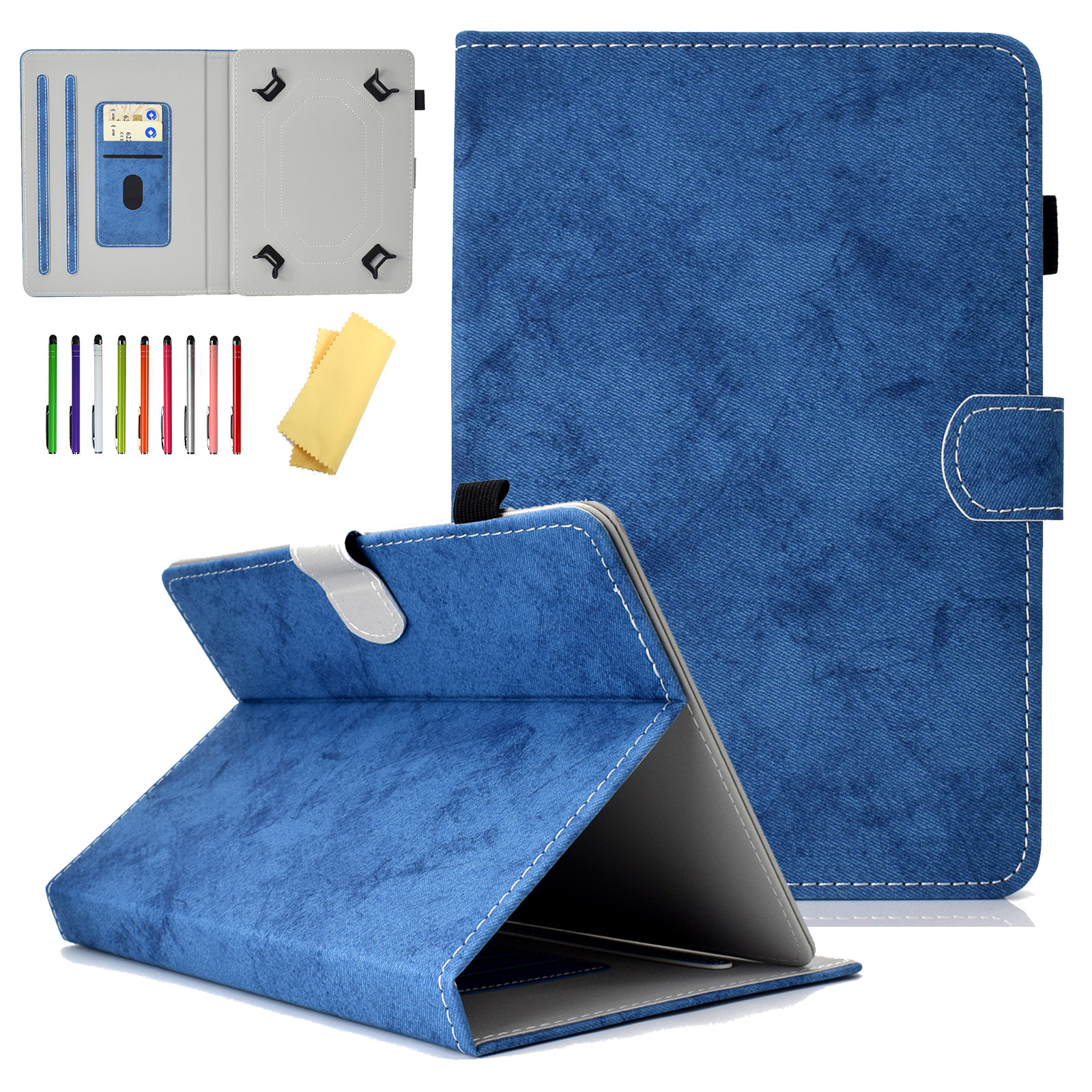 8.0 inch Universal Wallet Case, Goodest Protective Slim Stand Cover Case for iPad Mini/ Samsung Galaxy/ Amazon Kindle Fire HD 8/ Huawei Mediapad/ Lenovo/ RCA/ Acer and More 7.0-8.0 inch Tablet