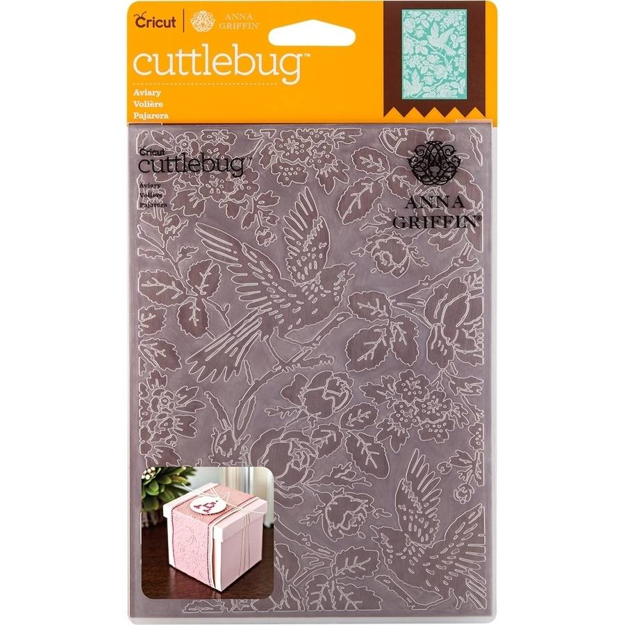 "Cuttlebug 5"" x 7"" Embossing Folder By Anna Griffin, Aviary"