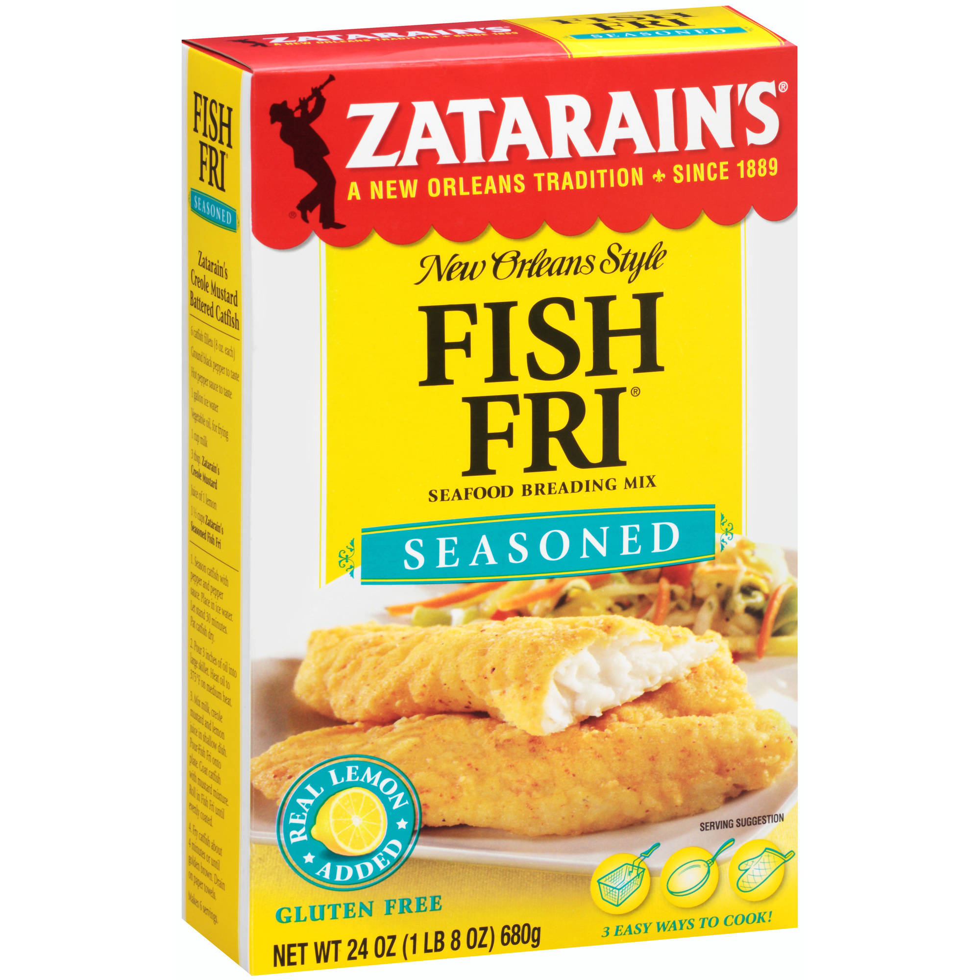 Zatarain's Fish Fri Seasoned Seafood Breading Mix, 24 oz