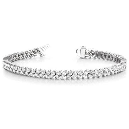 Harry Chad Enterprises 34002 7.70 CT Double Row Round Cut Diamonds Tennis Bracelet - image 1 de 1