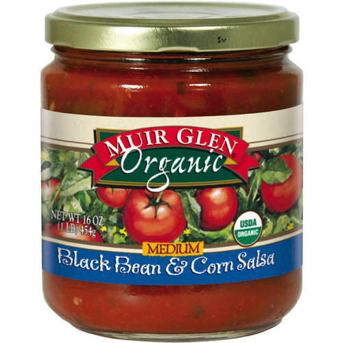 Muir Glen Organic Medium Black Bean & Corn Salsa, 16 oz