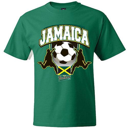 Jamaica Soccer  Green T-Shirt