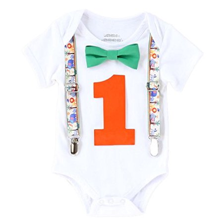 Noah's Boytique Baby Boys First Birthday Jungle Safari Theme Party Outfit 12-18 M Orange](Greek Themed Outfits)