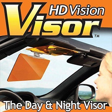 2 Pack  - Hd Vision Visor Day Night Easy View Sun Glare Blocks Uv Rays -  Walmart.com b1646c1ebee