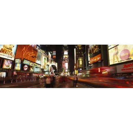 Buildings in a city Broadway Times Square Midtown Manhattan Manhattan New York City New York State USA Canvas Art - Panoramic Images (18 x 6)