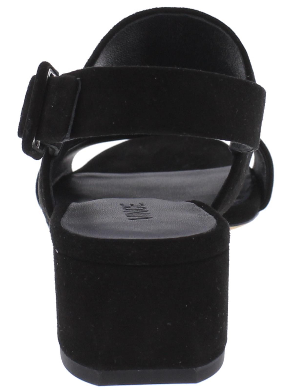 Vince Womens Taye Strappy Open Toe Block Heels Black 6.5 Medium (B,M)
