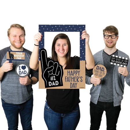 Photobooth Photos (My Dad is Rad - Father's Day Selfie Photo Booth Picture Frame & Props - Printed on Sturdy)