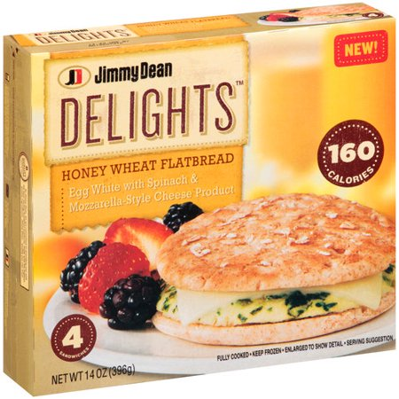 Jimmy Dean Delights Egg White With Spinach Mozzarella Style Cheese