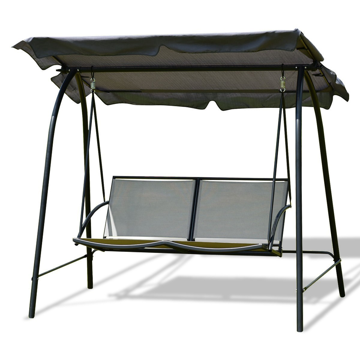 Patio Swing Chair with Canopy - Gray