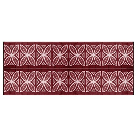 Camco 8 X 20 Reversible Rv Outdoor Mat Camping Mat Burgundy