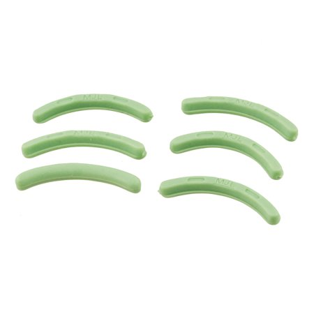 Unique Bargains Rubber Eyelash Curler Refill Cushion Pad Replacement Green 6 Pcs