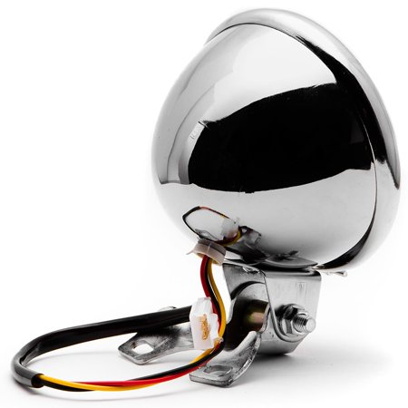 "Krator 5"" Chrome LED Headlight w/ Light Mounting Bracket for Yamaha Raider S XV 1900 XV1900 - image 4 of 7"