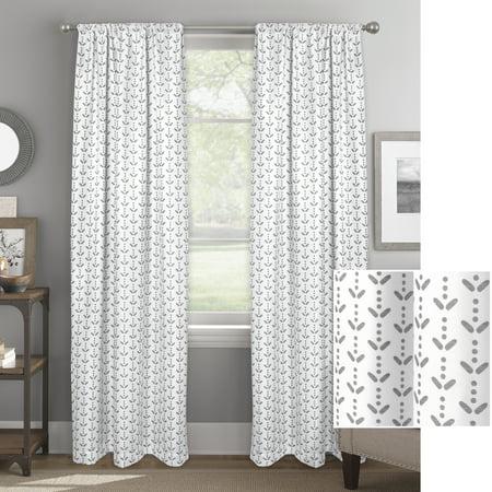 Better Homes & Gardens Cascading Samara and Dots Single Blackout Curtain Panel