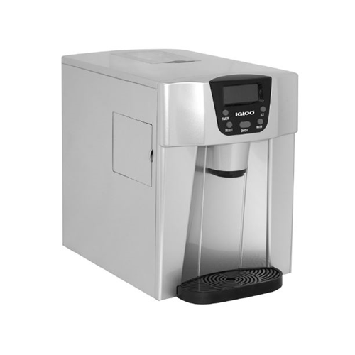 Igloo Compact Ice Maker and Water Dispenser, Silver ICE227-Silver - Manufacturer Refurbished
