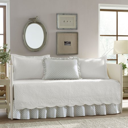 Trellis White 5 Piece Daybed Cover Set By Stone Cottage