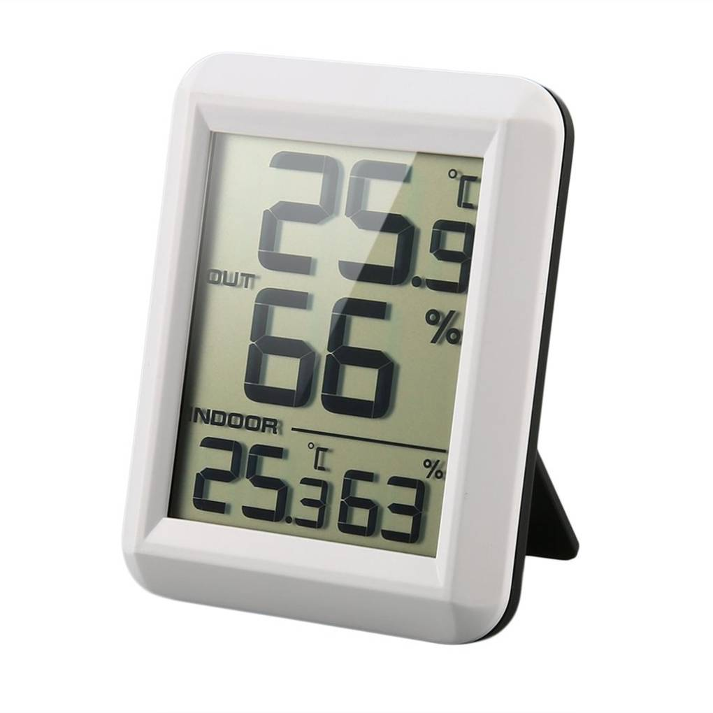 Digital LCD Wireless Thermometer Hygrometer with Transmitter Temperature Humidity Testing Meter Indoor Weather Station