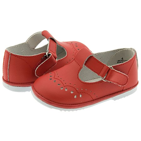 Baby Toddler Girls Red Eyelet Design Mary Jane Trendy Shoes Size 1-7](Mary Jane Red Shoes)