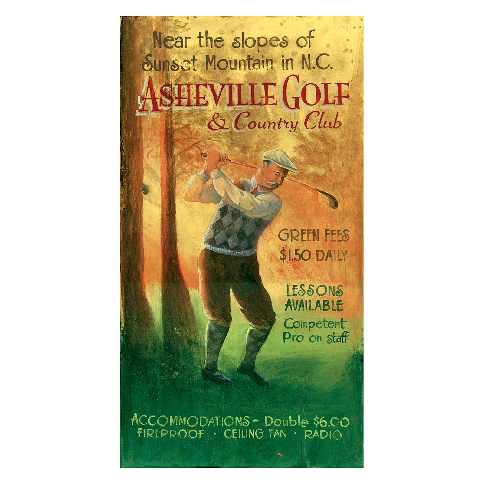 Vintage Golf Wall Art