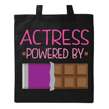 Actress Fueled by Chocolate Acting Theater Tote Bag Black One Size