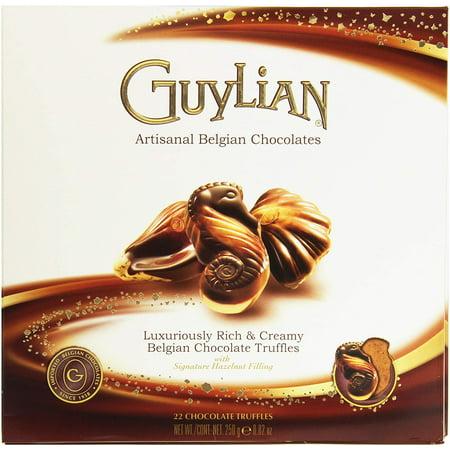 Guylian Belgian Seashell Truffles with Hazelnut Filling Chocolate, 8.8 Oz. (Pack of